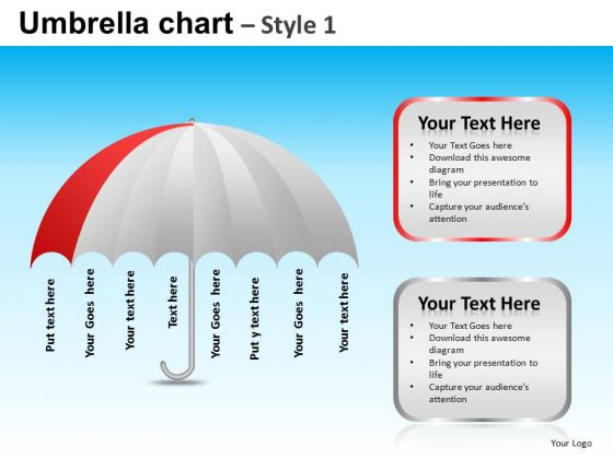PowerPoint Theme Business Competition Umbrella Chart Ppt Presentation Designs