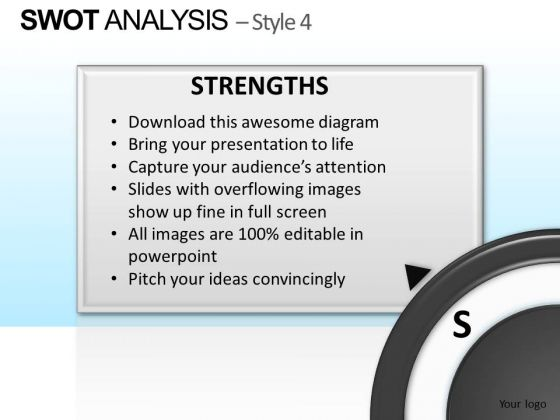 PowerPoint Theme Business Designs Swot Analysis Ppt Presentation