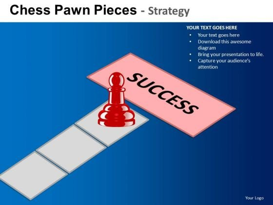 PowerPoint Theme Business Leadership Chess Success Ppt Designs