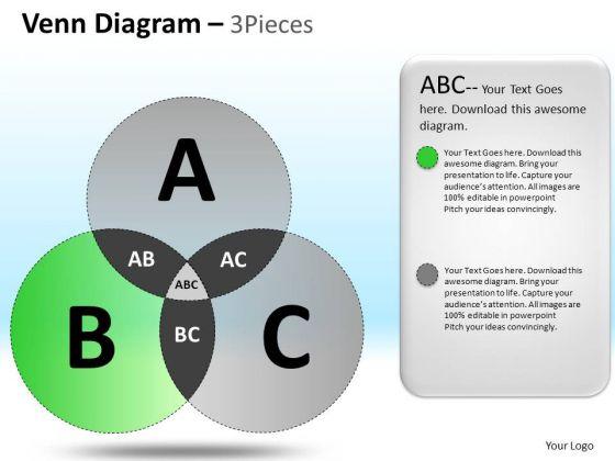 PowerPoint Theme Business Leadership Venn Circular Chart Diagram Ppt Design