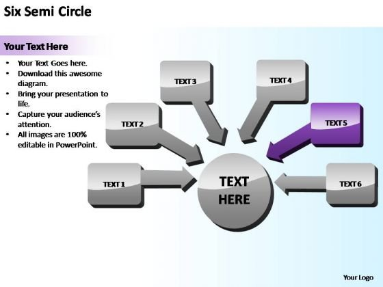 PowerPoint Theme Business Semi Circle Training Ppt Design