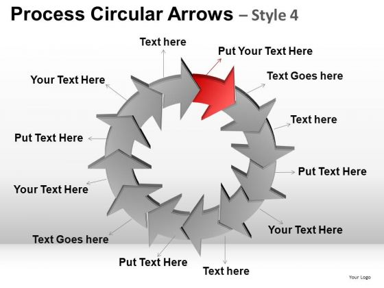 PowerPoint Theme Business Stragety Process Circular Arrows Ppt Design