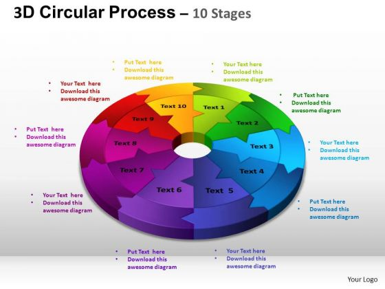 PowerPoint Theme Chart Circular Process Cycle Ppt Layout