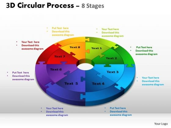 PowerPoint Theme Chart Circular Process Cycle Ppt Template