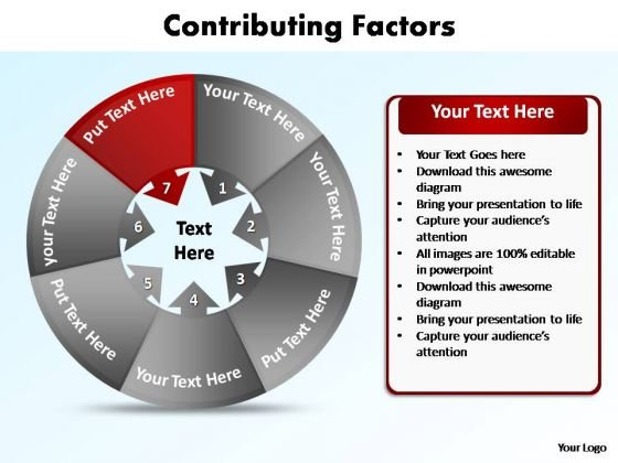 PowerPoint Theme Chart Contributing Factors Ppt Templates