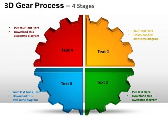 PowerPoint Theme Chart Gear Process Ppt Templates