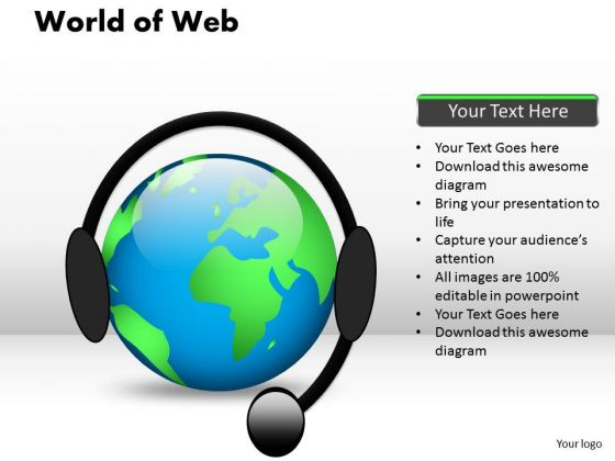 PowerPoint Theme Chart World Of Web Ppt Presentation