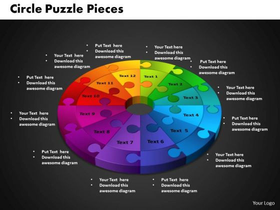 PowerPoint Theme Circle Puzzle Business Ppt Designs