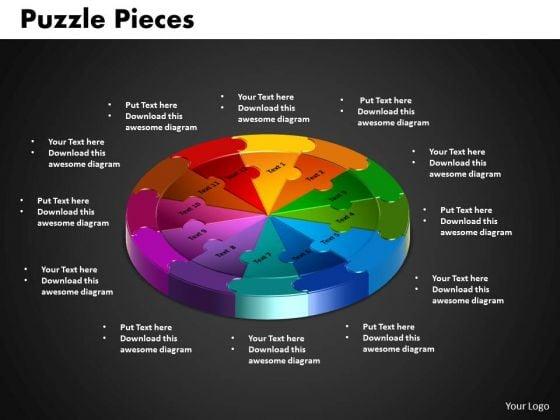PowerPoint Theme Circle Puzzle Diagram Ppt Designs