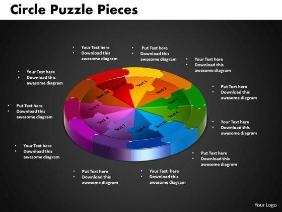 PowerPoint Theme Circle Puzzle Diagram Ppt Presentation