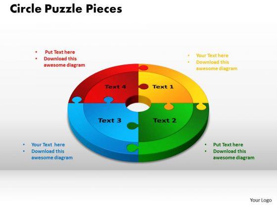 PowerPoint Theme Circle Puzzle Pieces Download Ppt Design Slides