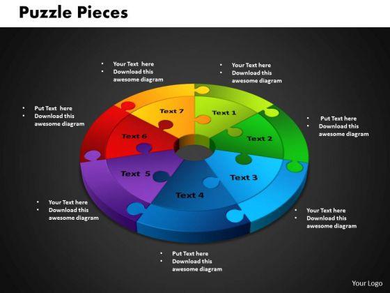 PowerPoint Theme Circle Puzzle Process Ppt Presentation