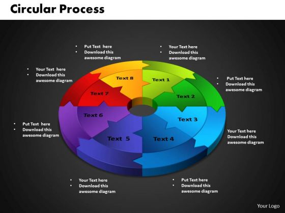 PowerPoint Theme Circular Leadership Ppt Backgrounds