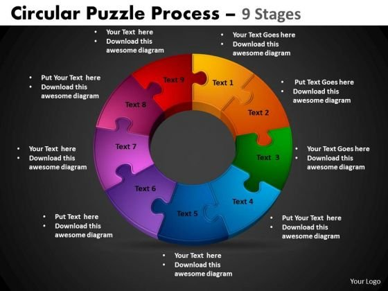 PowerPoint Theme Circular Process Circular Puzzle Ppt Slidelayout