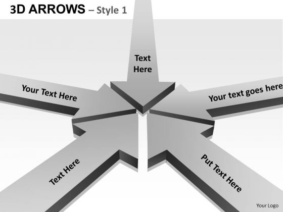 PowerPoint Theme Company Arrows Ppt Design Slides