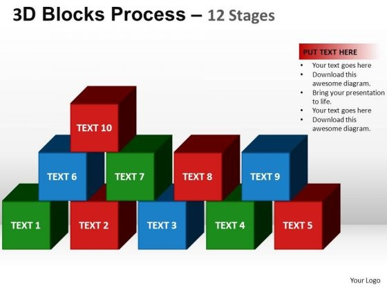 PowerPoint Theme Company Blocks Process Ppt Slide