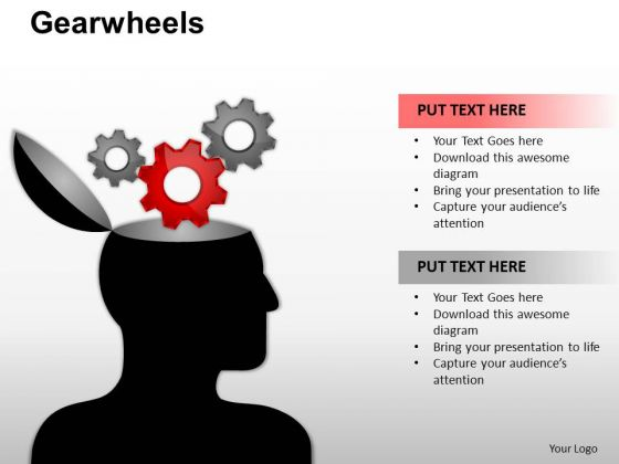 PowerPoint Theme Company Gearwheels Ppt Template