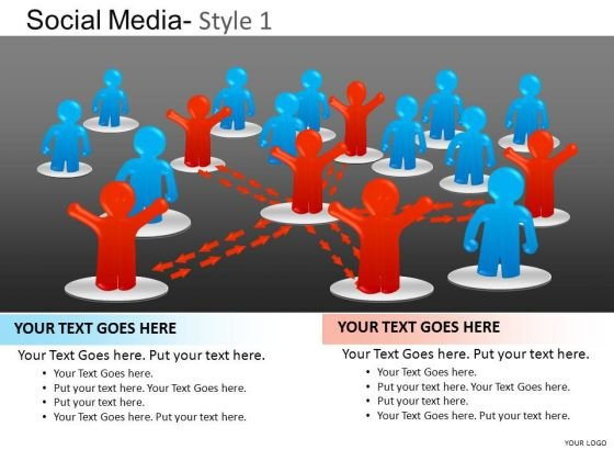 PowerPoint Theme Company Leadership Social Media Ppt Slidelayout