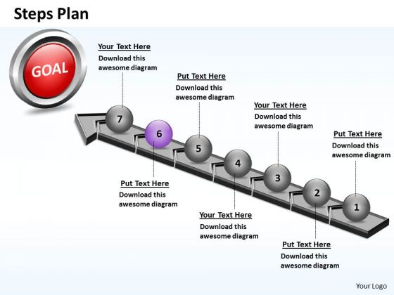 PowerPoint Theme Company Steps Plan 7 Stages Style 4 Ppt Design