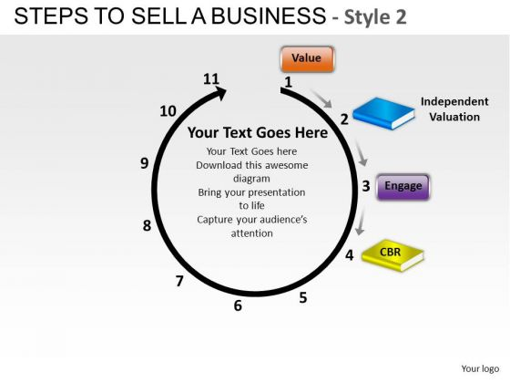 PowerPoint Theme Company Strategy Steps To Sell A Business Ppt Slides