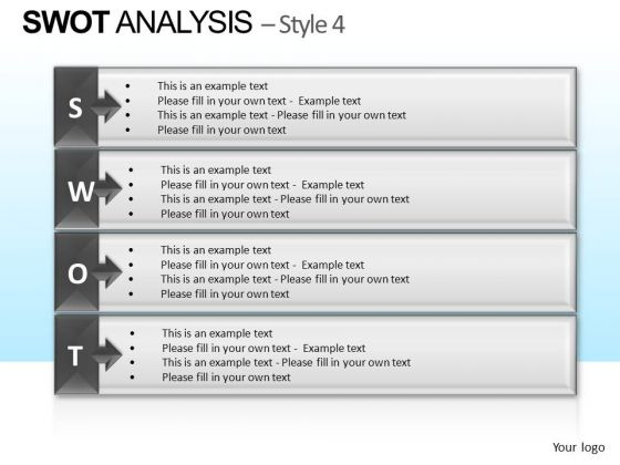 PowerPoint Theme Company Strategy Swot Analysis Ppt Slidelayout