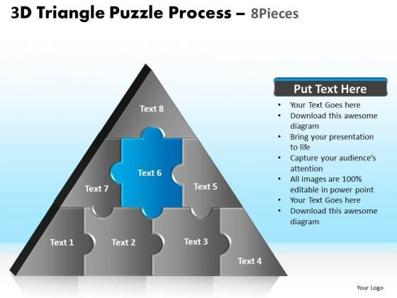 PowerPoint Theme Company Triangle Puzzle Ppt Design Slides