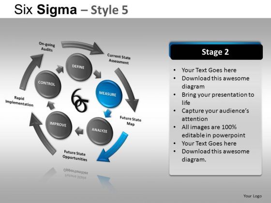 PowerPoint Theme Corporate Competition Six Sigma Ppt Design Slides