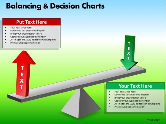 PowerPoint Theme Corporate Designs Balancing Decision Charts Ppt Process