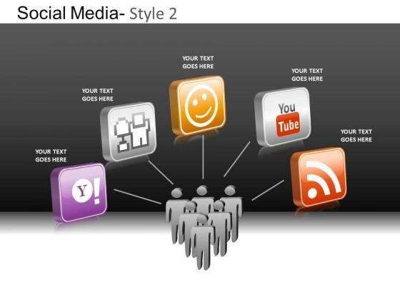 PowerPoint Theme Corporate Education Social Media Ppt Backgrounds