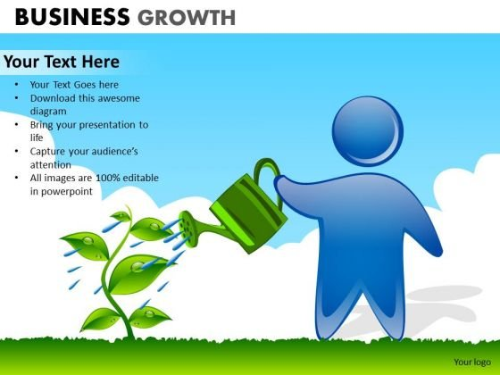PowerPoint Theme Corporate Growth Business Growth Ppt Design