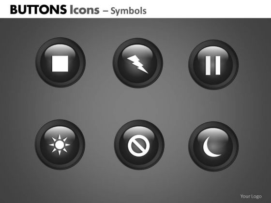 PowerPoint Theme Corporate Growth Buttons Icons Ppt Process