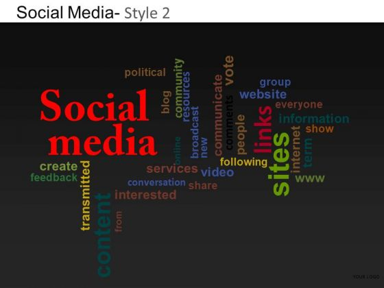 PowerPoint Theme Corporate Growth Social Media Ppt Themes