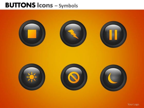 PowerPoint Theme Corporate Strategy Buttons Icons Ppt Slides