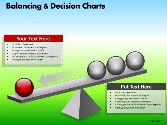 PowerPoint Theme Corporate Success Balancing Decision Charts Ppt Theme