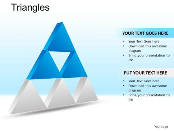 PowerPoint Theme Corporate Success Vision Triangles Ppt Template