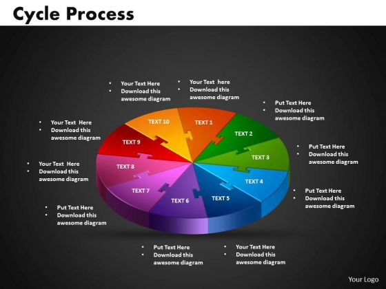 PowerPoint Theme Cycle Growth Ppt Design