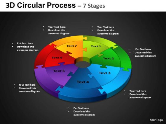 PowerPoint Theme Cycle Process Circular Process Ppt Slidelayout