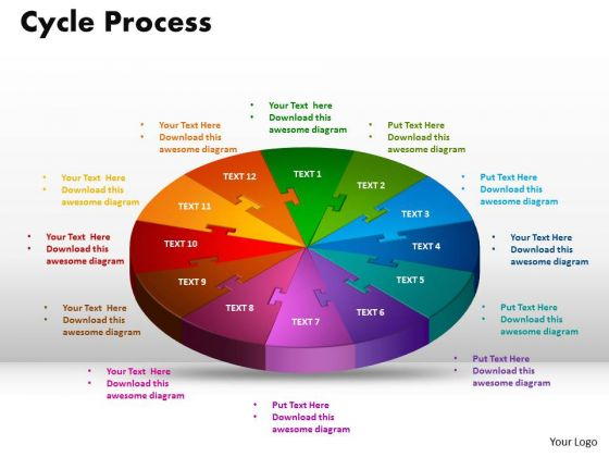PowerPoint Theme Cycle Process Diagram Ppt Template