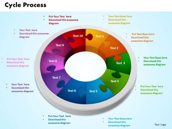 PowerPoint Theme Cycle Process Leadership Ppt Template