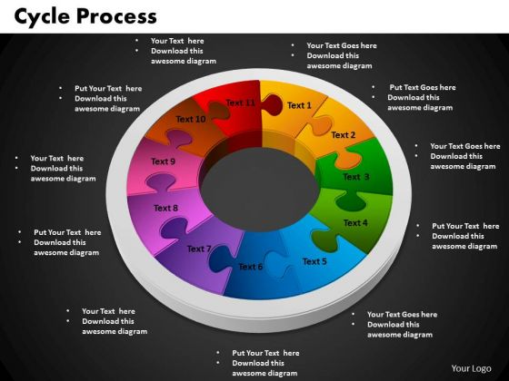 PowerPoint Theme Cycle Process Ppt Presentation