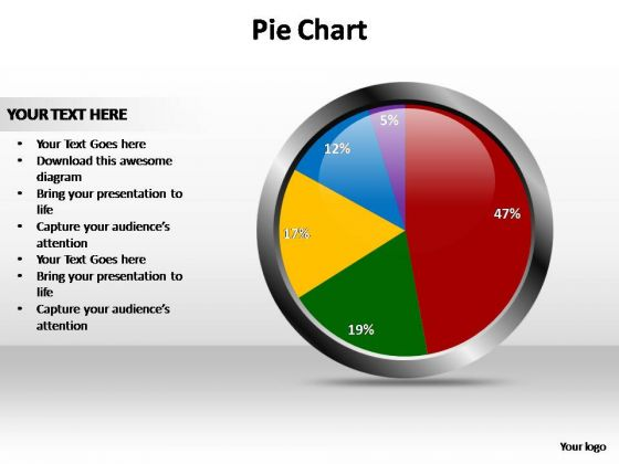 PowerPoint Theme Data Driven Pie Chart Ppt Design Slides