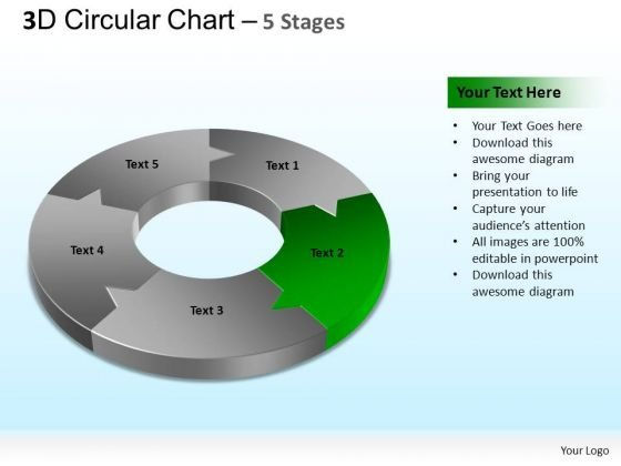 PowerPoint Theme Diagram Circular Chart Ppt Design Slides
