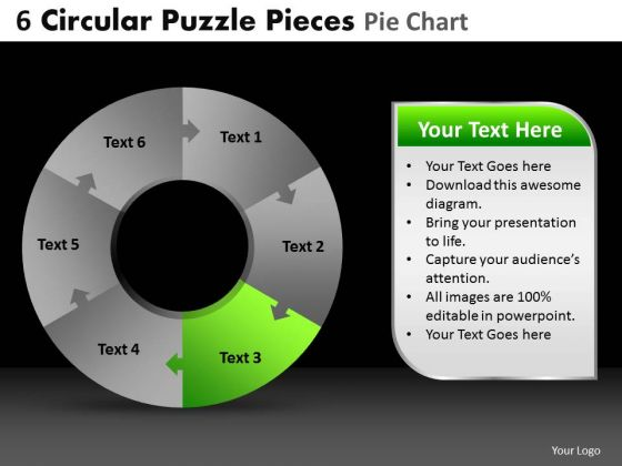 PowerPoint Theme Diagram Circular Puzzle Ppt Slide