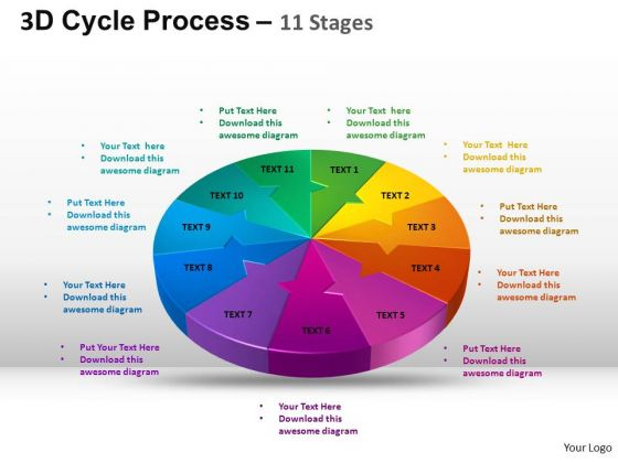 PowerPoint Theme Diagram Cycle Process Flow Ppt Template
