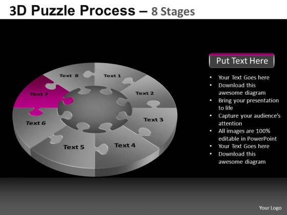 PowerPoint Theme Diagram Pie Chart Puzzle Process Ppt Slidelayout