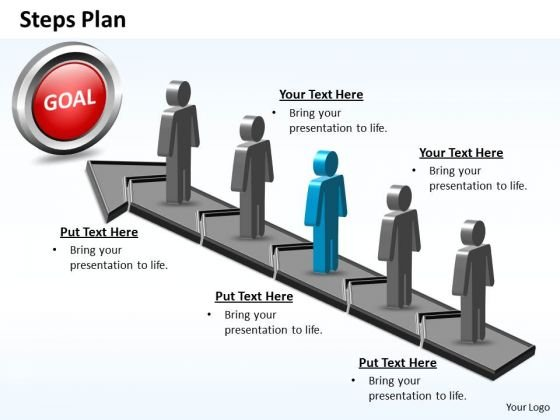 PowerPoint Theme Diagram Steps Plan 5 Stages Style 5 Ppt Presentation