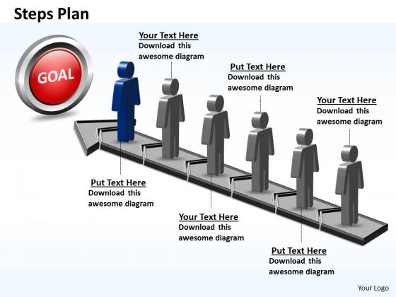 PowerPoint Theme Diagram Steps Plan 6 Stages Style 5 Ppt Templates