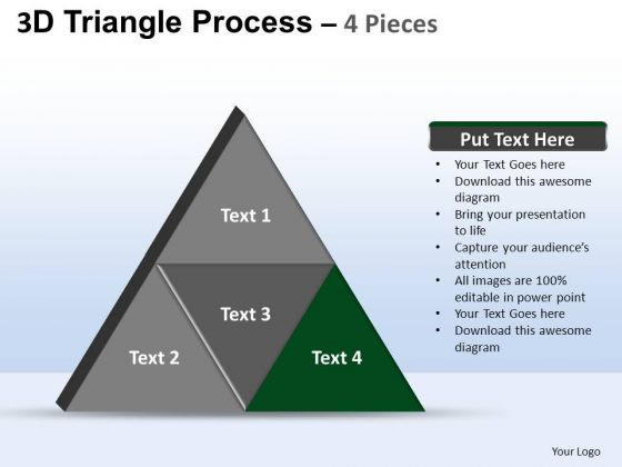 PowerPoint Theme Diagram Triangle Process Ppt Design