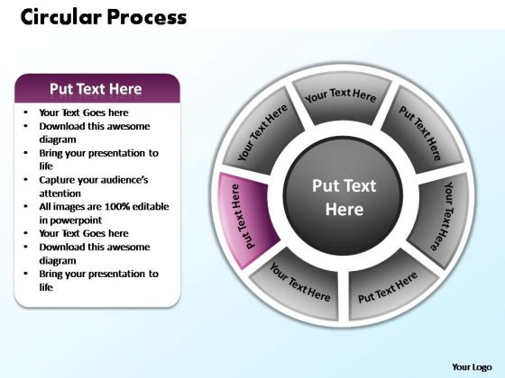 PowerPoint Theme Editable Circular Process Ppt Backgrounds