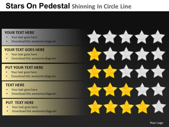 PowerPoint Theme Editable Pedestal Shinning Ppt Presentation